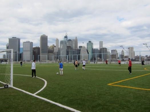Pier 5 Athletic Fields in Brooklyn Bridge Park