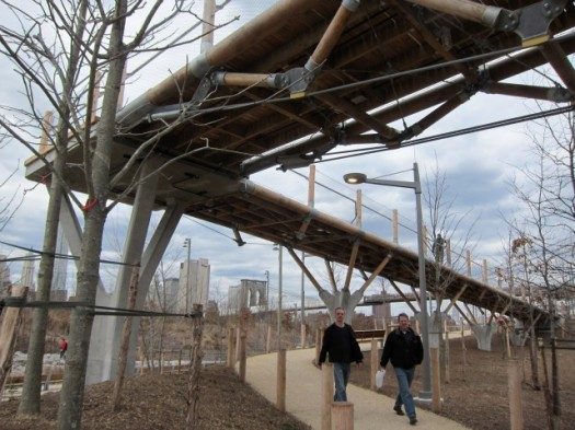 Beneath the Squibb Park Bridge, Leading to the Brooklyn Bridge Park