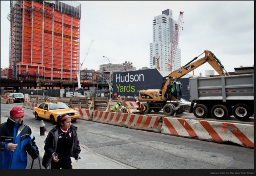 10th Avenue Construction on the Hudson Yards Project