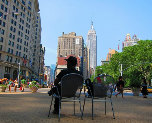 Empire State Building, as Seen from the Plaza Near Madison Square Park